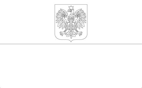 poland flag free coloring pages