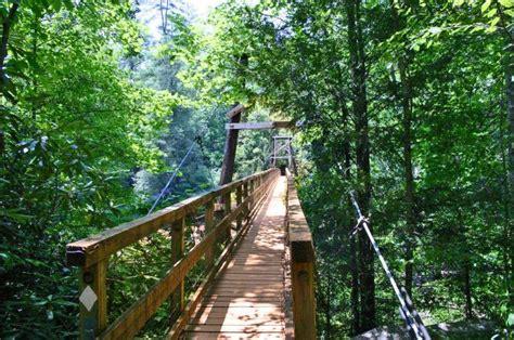 toccoa river swinging bridge north georgia cabin rental activities