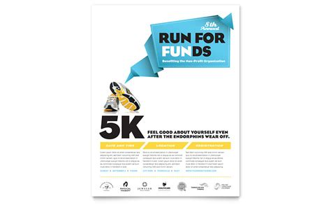 Charity Run Flyer Template Word Publisher Run Flyer Template Free