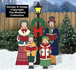 christmas carolers wood outdoor yard art by chartinisyardart