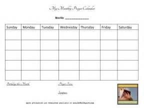 monthly prayer calendar do not depart