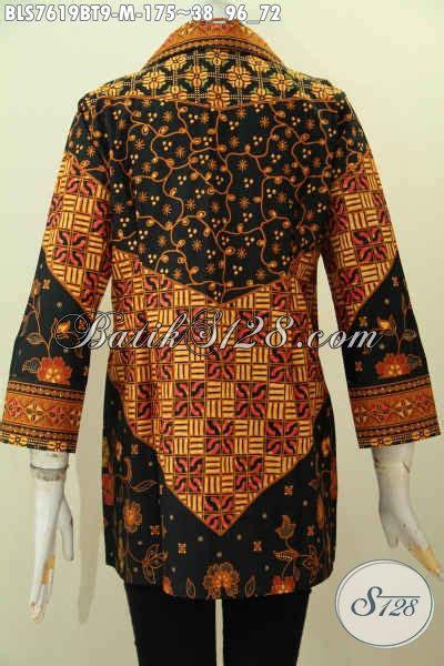 P249 Kemeja Pria Modern Keren Kualitas Bagus Tanpa Dasi Size Lengkap batik blus tanpa krah motif klasik pakaian batik jawa terkini buatan untuk kerja kantoran