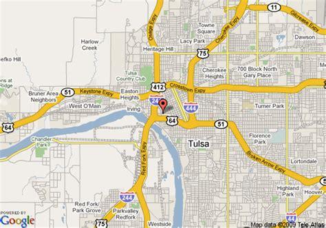 tulsa map map of doubletree hotel tulsa downtown tulsa