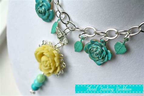 craft jewelry floral necklace with martha stewart jewelry