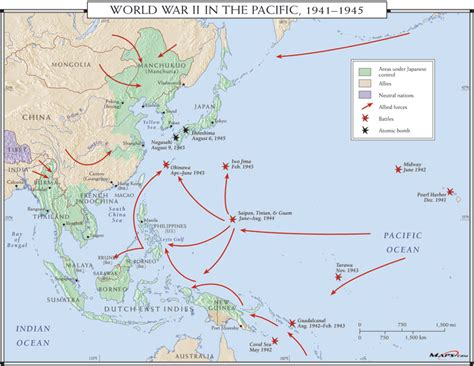pacific wwii map