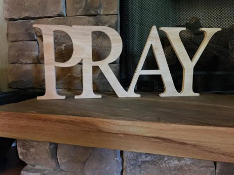 wooden letters home decor pray sign wooden letters home decor wooden phrase shelf