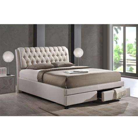 baxton studio bianca white modern bed with tufted headboard baxton studio bianca white modern full size tufted