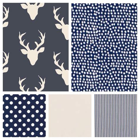 Patchwork Stag - stag patchwork baby blanket grey blush coral