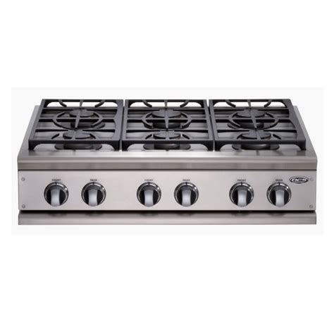 6 Burner Cooktop Shop Dcs By Fisher Paykel 36 Inch 6 Burner Gas Cooktop