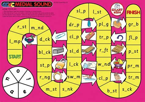 printable board games for spelling cvc spelling board games dd 195181