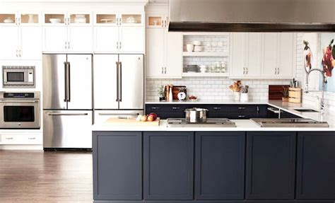 Dual Tone Kitchen Cabinets Two Tone Kitchen Cabinets Contemporary Kitchen Chatelaine