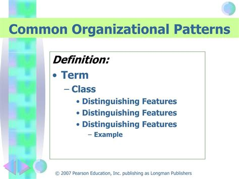 pattern of organization classification ppt efficient and flexible reading 8 e kathleen t