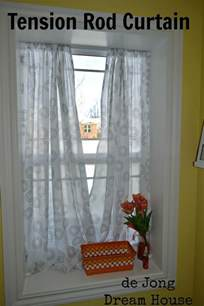 Tension Rod Curtains De Jong House Tension Rod Curtain In Window Sill Tension Rod Organize