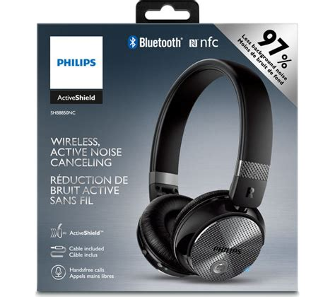 Headphone Noise Cancelling buy philips shb8850nc wireless bluetooth noise cancelling headphones black free delivery