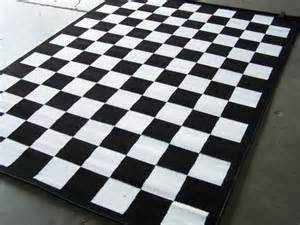 Black And White Checkered Kitchen Rug Checkered Black And White Area Rug 7 X 10 Nwt Office Space Cas White Area Rug