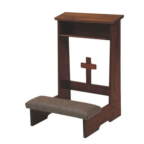 prayer bench for home prie dieu with padded kneeler church supplies