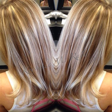 golden blonde hair with low lights full beige blonde highlights and light golden brown
