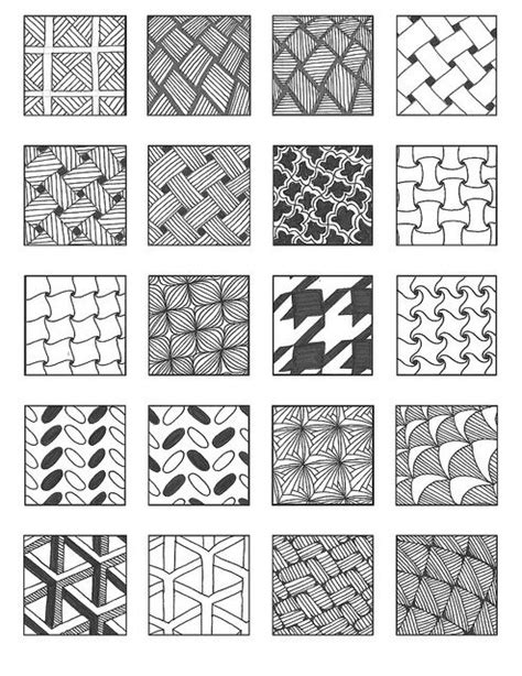 zentangle pattern guide design mandalas and patterns on pinterest