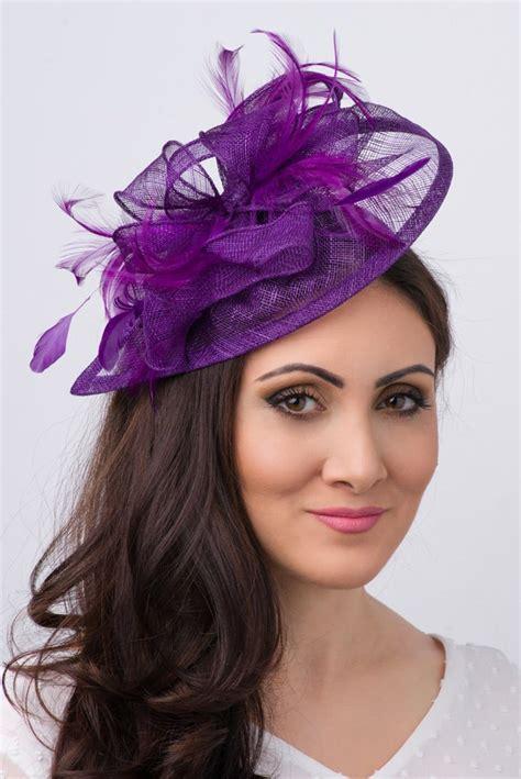 purple fascinator hat purple fascinator penny mesh hat fascinator with