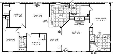 2000 sq ft house plans one story 2000 sq ft and up manufactured home floor plans