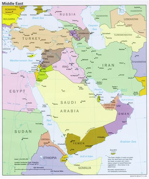 middle east map high res the world factbook 1995