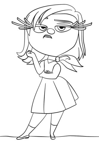 inside out coloring pages riley inside out riley character coloring page coloring pages