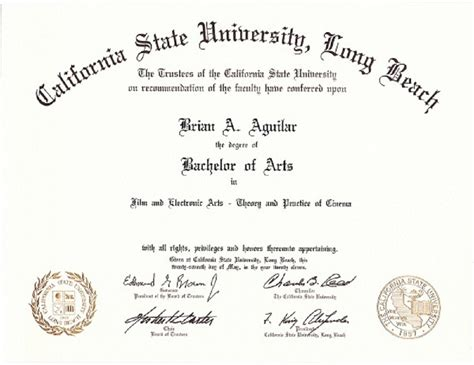 Cal State Universities With Mba Degrees by Image Gallery Degree Certificate
