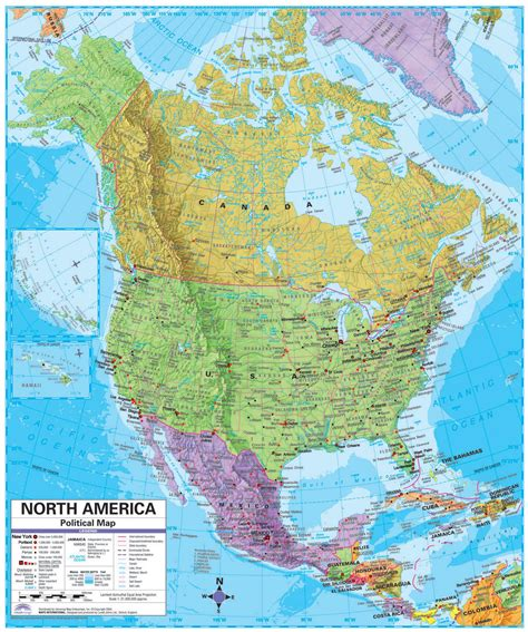 america map large america large detailed political and relief map with