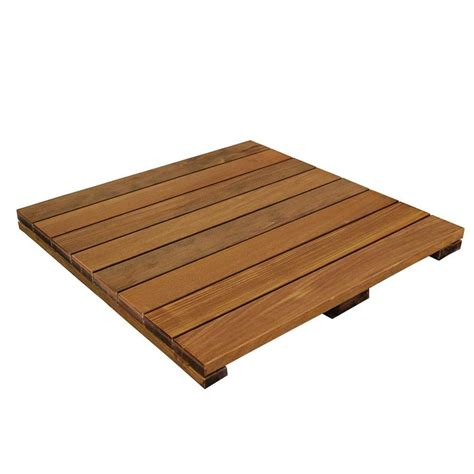 Deck Tiles by Shop Deckwise Solid Smooth Ipe Hardwood Deck Tile Common