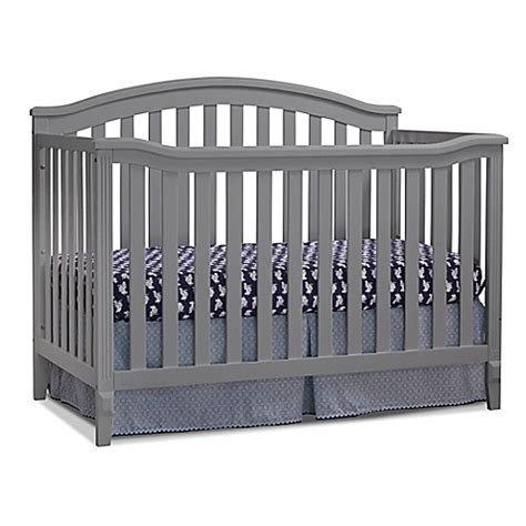sorelle berkley crib gray sorelle berkley 4 in 1 convertible crib in grey buybuy baby
