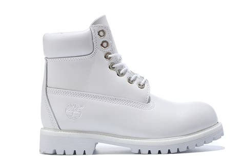 timberland mens authentic 6 inch bright leather boot all white
