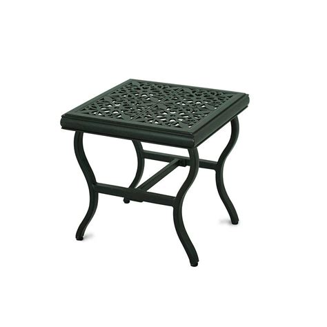 Home Depot Patio Table Hton Bay Brown All Weather Wicker Patio Side Table 66 20307 The Home Depot