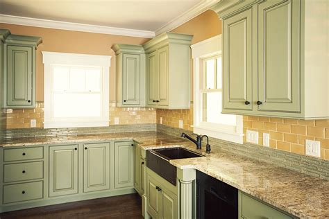 Traditional Kitchen Cabinets green amp gold kitchen wolf custom tile and design