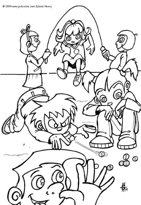 kids playing coloring pages hellokids com