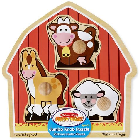 Jumbo Knob Puzzles by Barnyard Animals Jumbo Knob Puzzle Educational Toys Planet