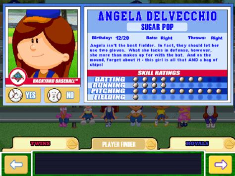 backyard baseball names backyard baseball 2003 game giant bomb