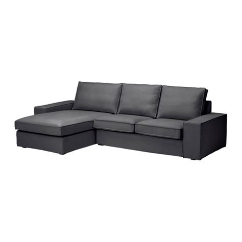 chaise couch ikea kivik two seat sofa and chaise longue dansbo dark grey