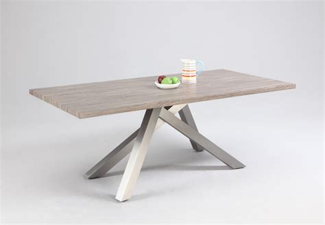 dining table with stainless steel legs oak dining table with stainless steel legs riverside