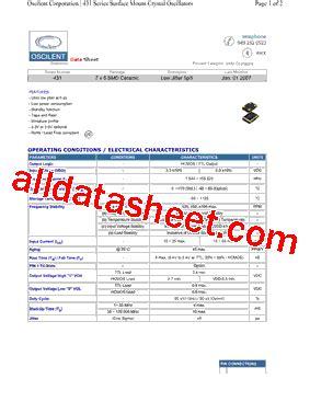 transistor w431 datasheet 431 datasheet pdf oscilent corporation