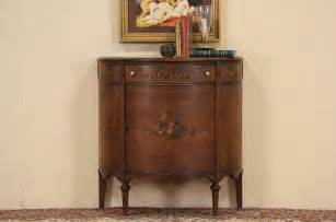 sold demilune console 1920 s signed cabinet