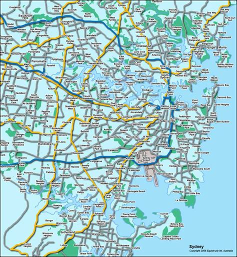 sidney australia map sydney australia turismo mapa
