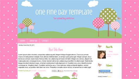 blogger themes kawaii one fine day cute outdoor blogger template