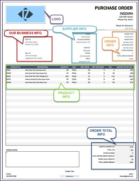 Retail Inventory Management Software Accounting Invoice Reporting Retail Purchase Order Template