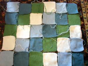 Knitted Patchwork Throw Pattern - knitted patchwork baby blanket
