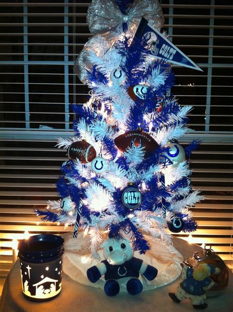 colts themed christmas tree the robins nest