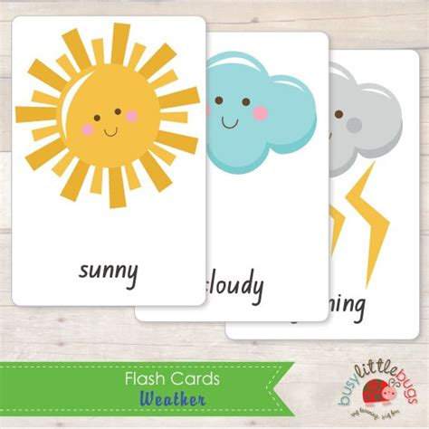 print flash cards kinkos weather flash cards by busy little bugs ecole