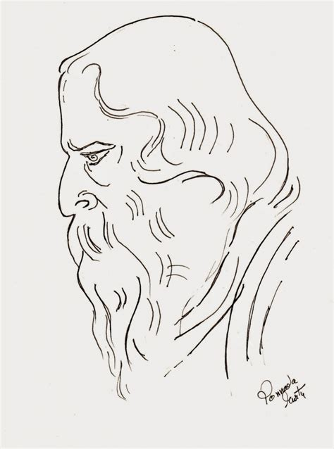 sketchbook how to draw line rabindranath tagore pencil sketch pencil drawing