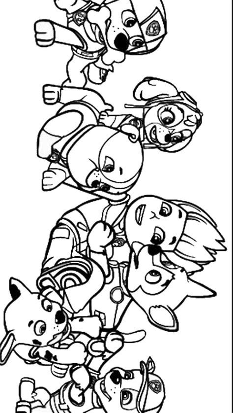 coloring page for paw patrol free coloring pages of paw patrol marshall