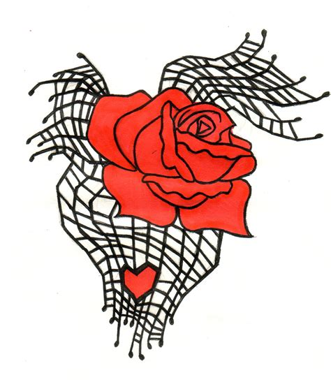 rose with spider web tattoo spiderweb design by natzs101 on deviantart