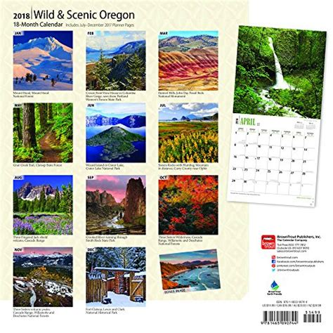 United States Of America Usa Calend 2018 Oregon Scenic 2018 12 X 12 Inch Monthly Square